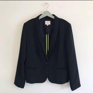 Loft Black Single Button Blazer